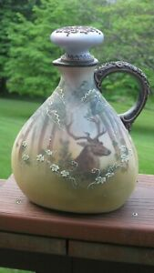 Rare Nippon Stag in Forest Wine Jug !!!!