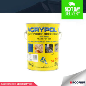 ACRYPOL + Grey 5 Litre All Weather Waterproof Flat Roof Repair Coating  RC3004/5