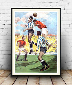 Old Football image from the 1960's  poster reproduction.