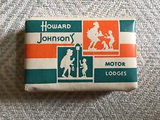VINTAGE HOWARD JOHNSON'S MOTOR LODGES CASHMERE BOUQUET MINI SOAP