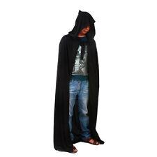 New Mens Ladies Hooded Robe Long Cloak Cape Hood Halloween Fancy Costume Dress