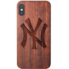 Yankees Apple iPhone X Case - Official MLB Impact Armor Shockproof Wood Cover