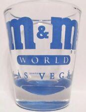 M&M Candy SHOT GLASS Las Vegas World Blue Short NWT COLLECTOR