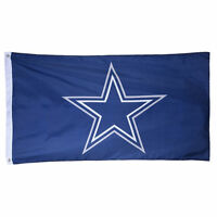 "Dallas Cowboys Authentic Team Flag 3x5 Indoor Outdoor 3""x5"" Banner Hologram"
