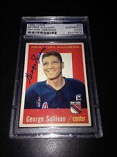George Red Sullivan Signed 1959-60 Topps NY Rangers Card PSA Slabbed #83476830