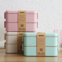 Family Pack of 4 x Eco Bento Lunch Box Double Layered
