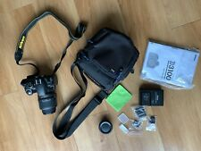Nikon D3100 Camera, Battery, Charger, Accessories, Bag, Neck Strap