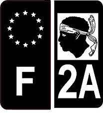 4 Autocollants 2 paires Stickers style Auto Plaque Black Edition noir F+ 2A