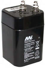 FP650S Dual Purpose 6V 5.0Ah VRLA Lantern Battery with Spring Terminals