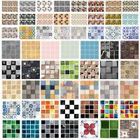 6-20pcs Floor Tiles Wall Stickers Kitchen Waterproof Decals Home Brdroom Decor