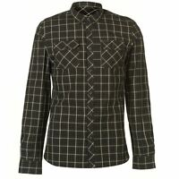 Mens Firetrap Blackseal Long Sleeve Check Shirt Casual New