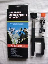 JOB LOT OF 10 BLACK WIRELESS MOBILE PHONE MONOPOD  NEW IN PACKETS