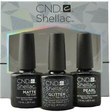 New CND Shellac Alluring Top Coats 7.3ml MATTE/PEARL/GLITTER