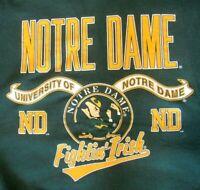 Vtg Notre Dame Fighting Irish Leprechaun NCAA Sweatshirt Danaggers Large USA