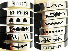 25pcs Men's Rubber stainless steel bracelets wholesale jewelry lots