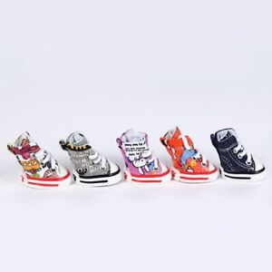 4pcs Pet Dog Boots Puppy Cute New Sports Anti-slip Shoes Sneakers For Small Dogs