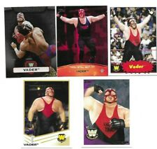 TOPPS WWE WCW BORN IN LYNWOOD CALIFORNIA 5 BIG VAN VADER WRESTLING CARDS