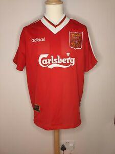 Rare Original 1995-1996 Liverpool Home Shirt Large Men's ADIDAS
