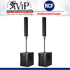 """RCF EVOX 12 Active Portable 2Way Array PA System 1400W DJ System 15"""" Woofer PAIR"""