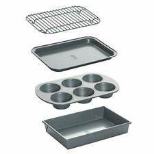 Non-Stick Toaster Oven Bakeware Set, 4-Piece, Carbon Steel