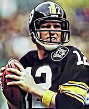 "TERRY BRADSHAW 8"" X 10"" Photo Painting Portrait Art NFL #12 Pittsburgh Steelers"