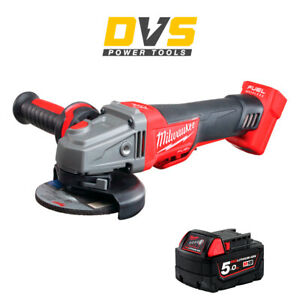 Milwaukee M18CAG115XPDB-0 M18 Fuel Brushless Angle Grinder with 1x 5Ah Battery
