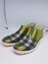 BURBERRY Femmes Chaussures Basses En Caoutchouc uk6 1/2 taille 40 neuf avec neuf dans sa boîte