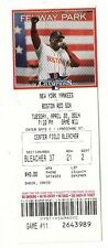 2014 BOSTON RED SOX VS NEW YORK YANKEES 4/22/14 ORTIZ TICKET STUB TANAKA WIN