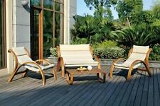 BARCELONA LUXURY 4 PIECE OUTDOOR WOODEN FURNITURE SET - Patio Deck Garden Pool