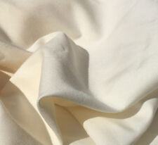 "60"" Ivory Rayon Medium Heavy Weight Gabardine Twill Woven Fabric By the Yard"