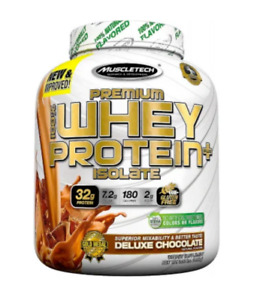 MuscleTech Premium 100% Whey Protein Plus Isolate, 3lbs Deluxe Chocolate Qty 1