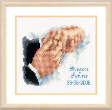 Con este anillo de boda Record-Vervaco puntada cruzada contada Kit-PN0011943
