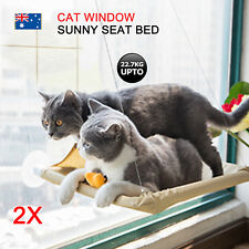 2x Cat Window Mounted bed Seat Pets Sunny Hammock Cover Washable OZ