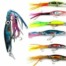 5x Game Fishing Lures Skirted Trolling Lure Squid Skirts Marlin Tuna GT Mahi