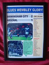 Birmingham City 2 Arsenal 1 - 2011 Carling Cup final - framed print