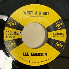 Rockabilly 45 LEE EMERSON What a night COLUMBIA