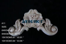 15x15cm Wood Carved Corner Onlay Applique Door Wall Rose Unpainted A11 QTY.4