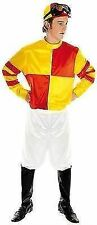 Fun Shack Adult Red & Yellow Jockey Costume - Medium