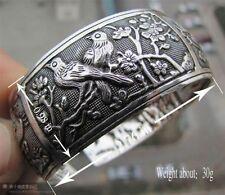 Wholesale New Tibetan Tibet silver Totem Bangle Cuff Bracelet #42