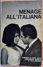 Testa: Menage all'italiana ed. Lerici 1966 da film Tognazzi Buccella Dalidà