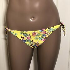 "*Sz: Large Vix Hermanny ""Lola"" Floral Side Tie Grommet Detail Bikini Swim Bottom"