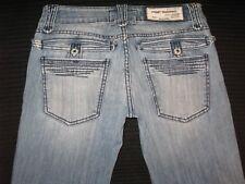 Taverniti Jeans Womens Low Bootcut Distressed Wash Sz 27