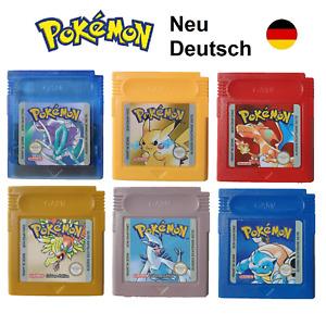 Pokemon GBC Kristall Gold Silber Rot Blau Gelb Edition auf Deutsch Gameboy Color