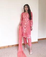 Indian Pakistani Shalwar Kameez Salwar Suit Dress Wedding Maria B Inspired pink