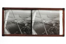 France Vue d'avion aérophotographie Photo Stereo Plaque de Verre Positif Vintage
