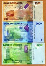SET Uganda, 1000;2000;5000 Shillings, 2017, P-49-50-51, UNC