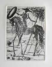 Salvador Dali DON QUIXOTE Plate Signed Restrike Etching in Mint Condition!