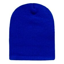 Royal Blue Beanie Hat Skull Ski Snowboard Winter Warm Knit Hats Cuffless Beanies