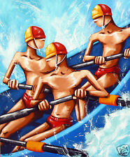 ART PRINT BEACH SURF PAINTING LIMITED  60cm 2000s, Abstract, Australia