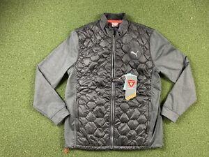 Puma Cloudspun Primaloft Full Zip Golf Jacket Black Gray Mens SZ M ( 531099 01 )